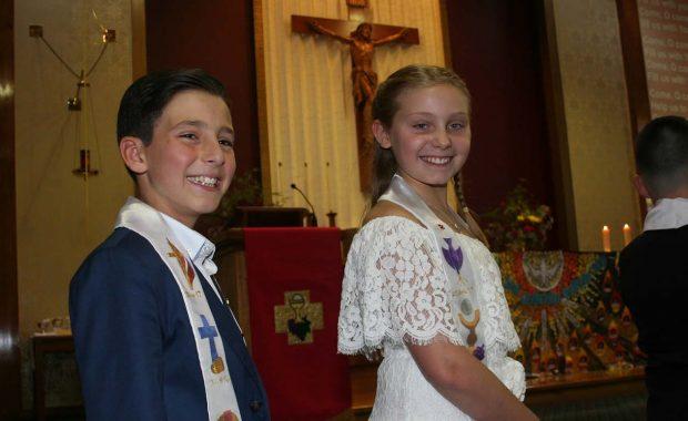 Students at church